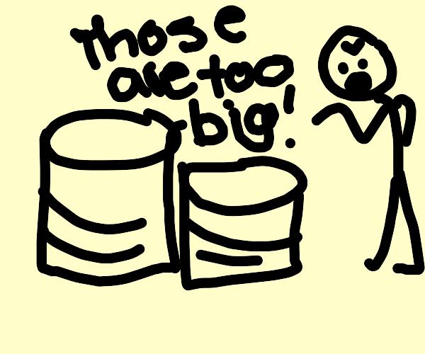 Drum kit too big