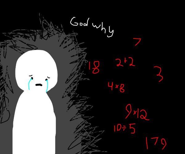 Depressed because of math