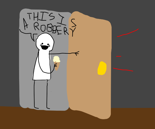 man with ice cream breaks into your house
