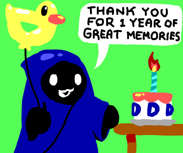 Person thanks you for 1 year of good memories