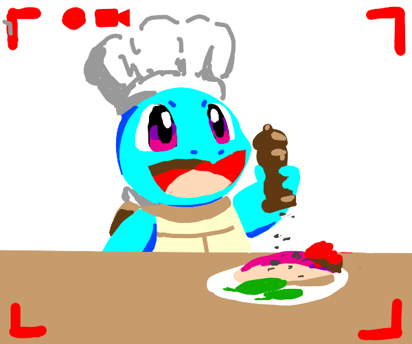 Squirtle's cooking show