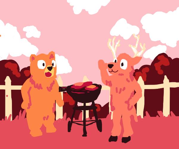Bears & bucks at a barbecue