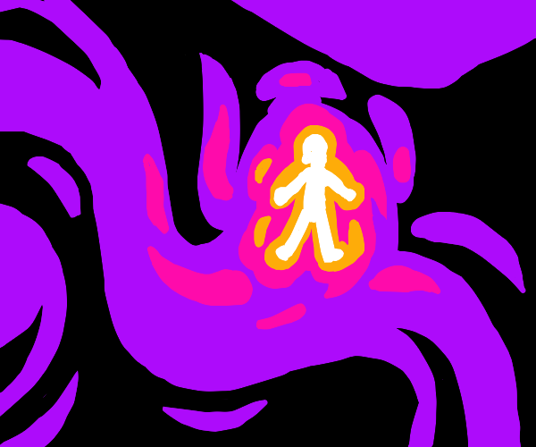bright person in the void