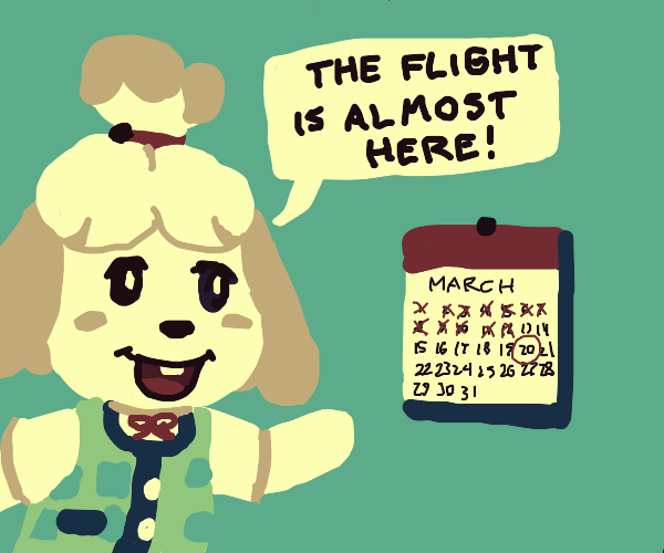 Isabelle's return imminent - AC March 20th