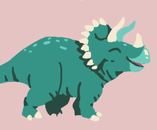 Happy triceratops