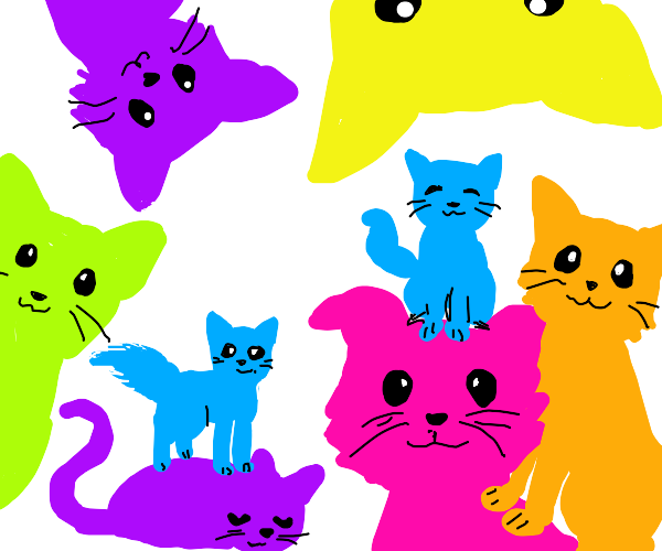 Cats of all colours