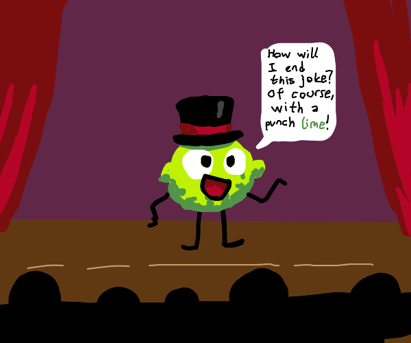 Lime does stand up comedy