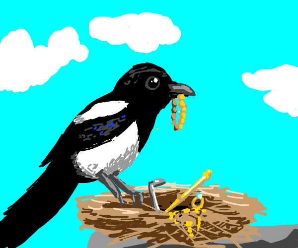 Magpie and it's hoard