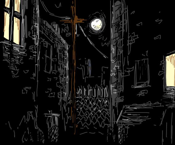 nighttime alley.