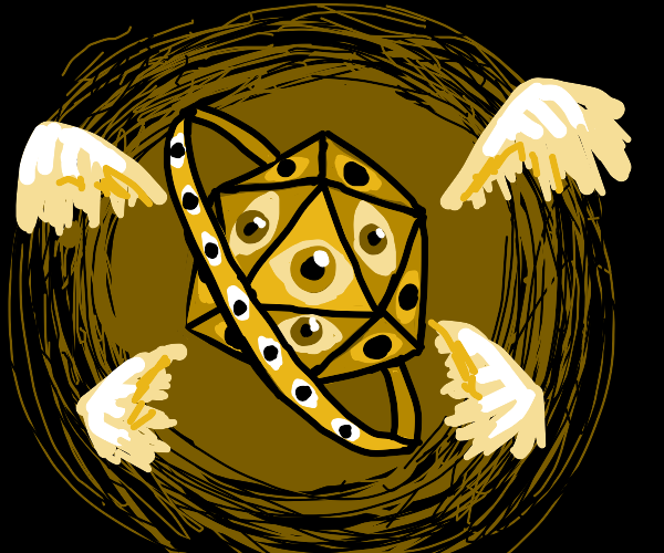 Biblically accurate angel similar to a D20