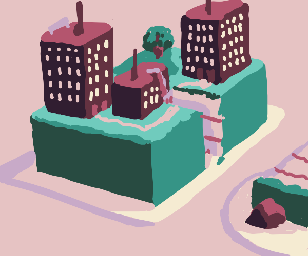 Beautiful city cake