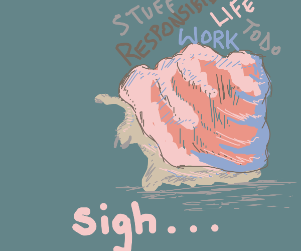 distressed snail