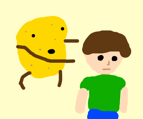 Potato breaking someone's neck