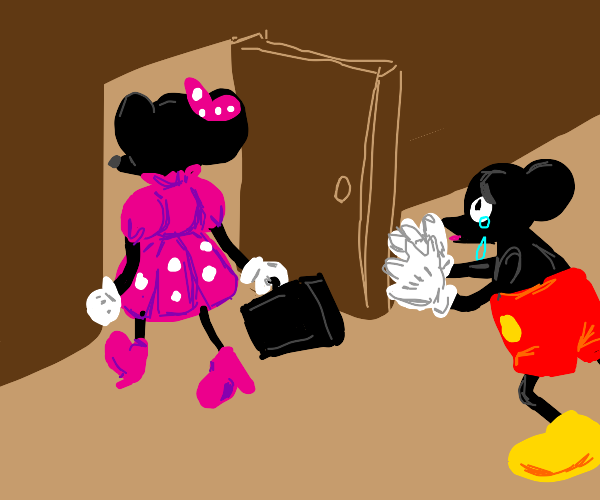 Minnie Mouse moves out