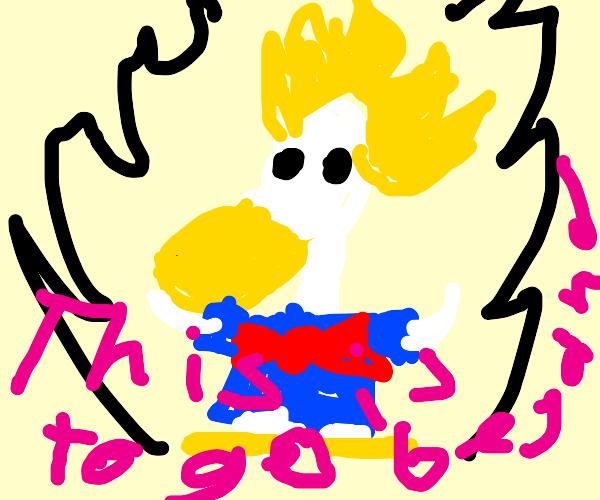 Donald Duck Super Saiyan