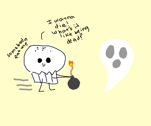 asdf muffin w/bomb rushes toward ghost