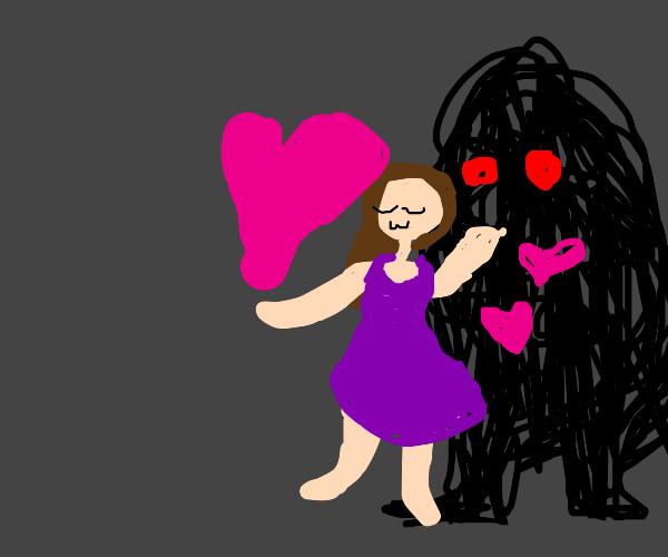 woman loves black entity