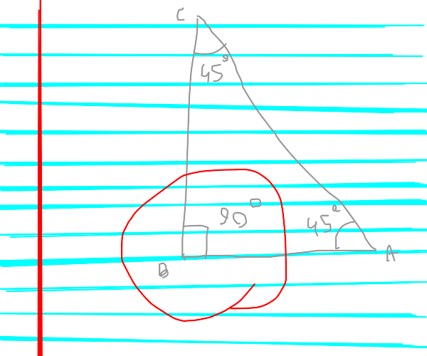 the right angle of a triangle