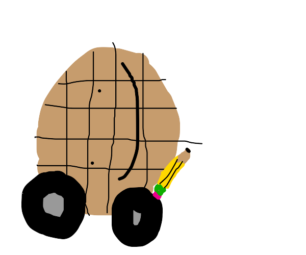 drawing with waffles' wheels :)