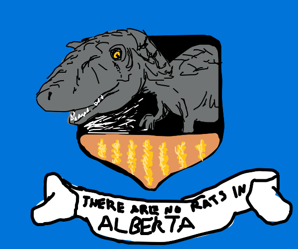 a hunter's stuffed dinosaur trophy (no rats!)