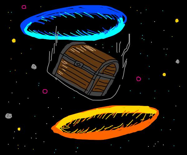 Portal chest through space