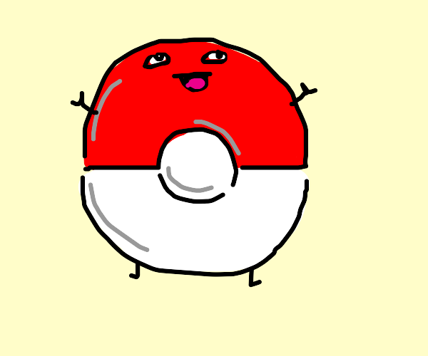 Pokeball with a face