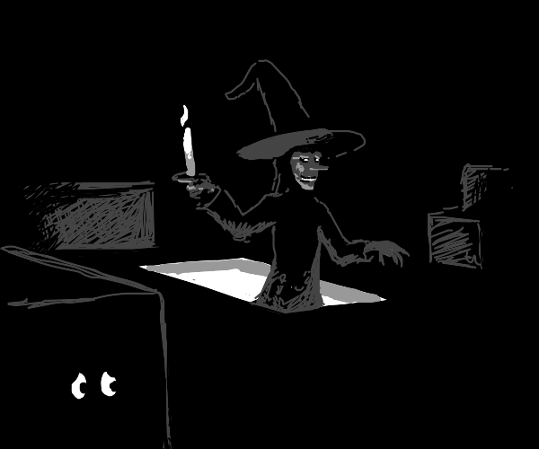 witch goes into attic