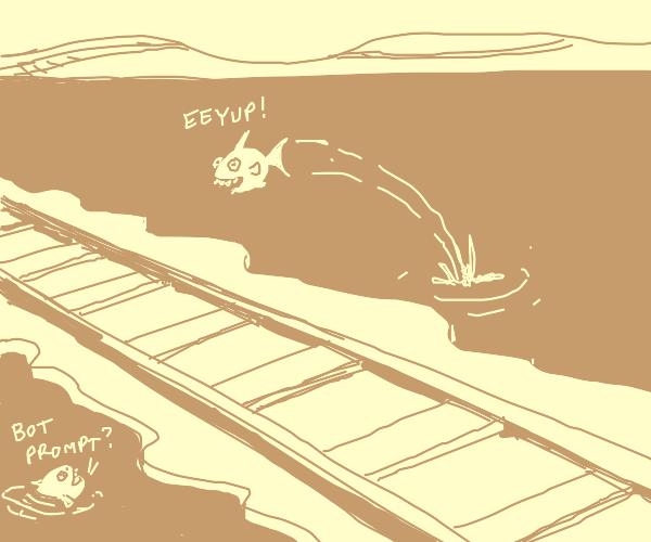 Piranha jumping over the Tracks