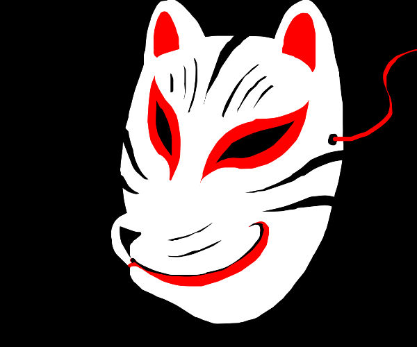 Japanese fox mask (Kitsune)