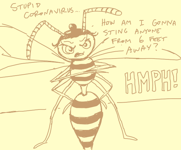 Disgruntled wasp