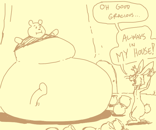 pooh ate too much honey