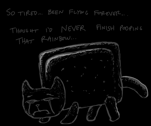 tired and emotional nyan cat