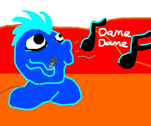 blue thing sings damedame