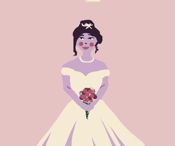 an elegantly dressed bride