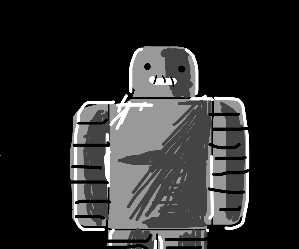 Robot but a Roblox character