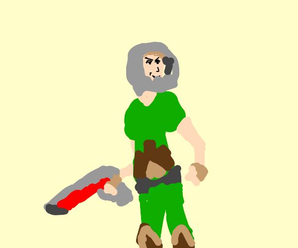 Doom Guy, But Hes Shaggy