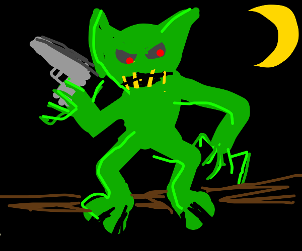gremlin with a gun