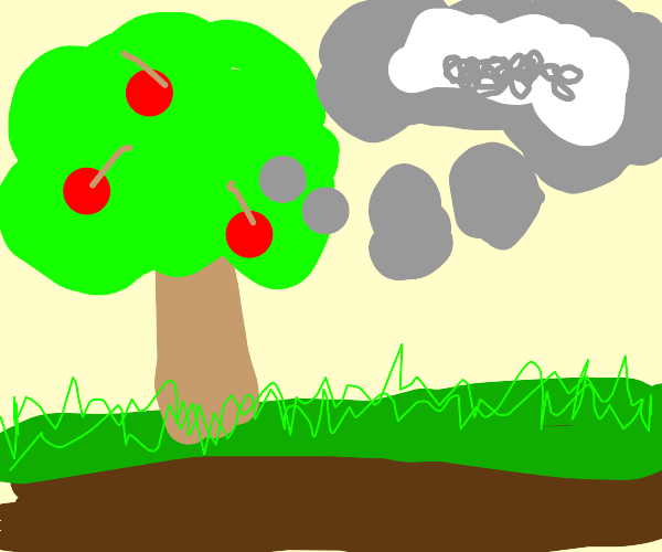 tree thinks its a cloud :(