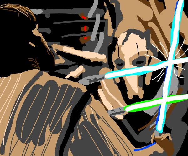 General Grievous vs Obi Wan Kenobi