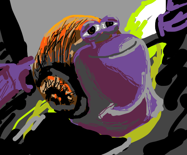 purple snail from turbo (the movie duh)