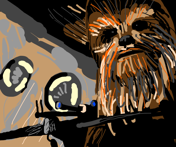 Chewbacca with a crossbow