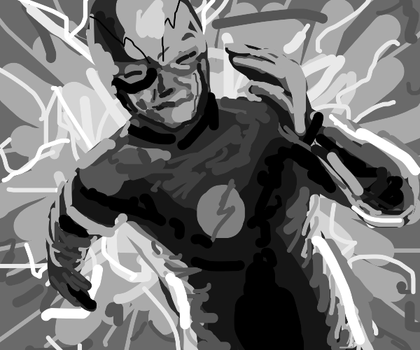 The Flash - now in black and white.