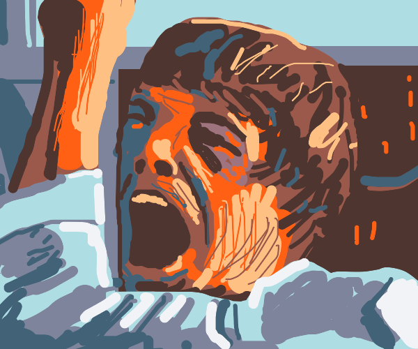 Luke Skywalker cries NOOOOOO!