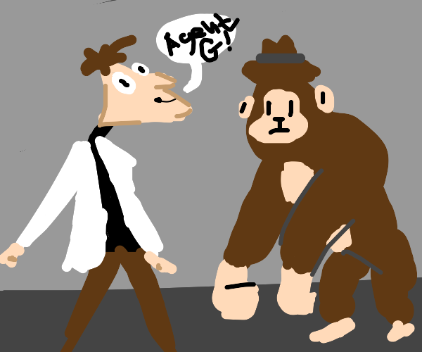 Dr doofensmirtz and Agent G (g for gorilla)