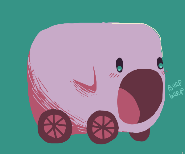 Kirby but a car