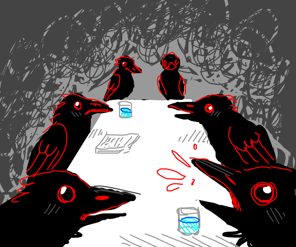 Conference of crows