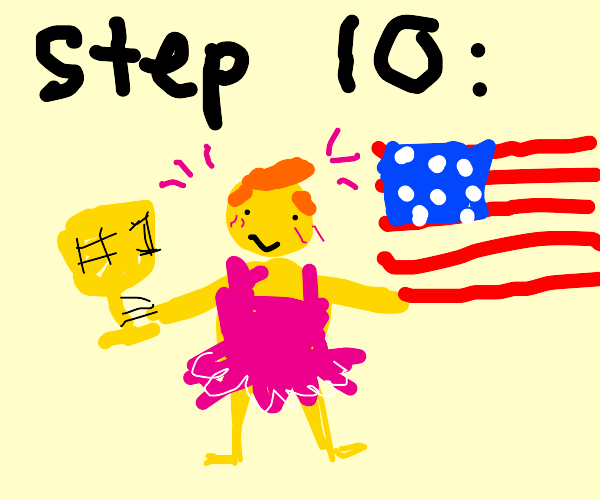 step 9: enter president in beauty contest
