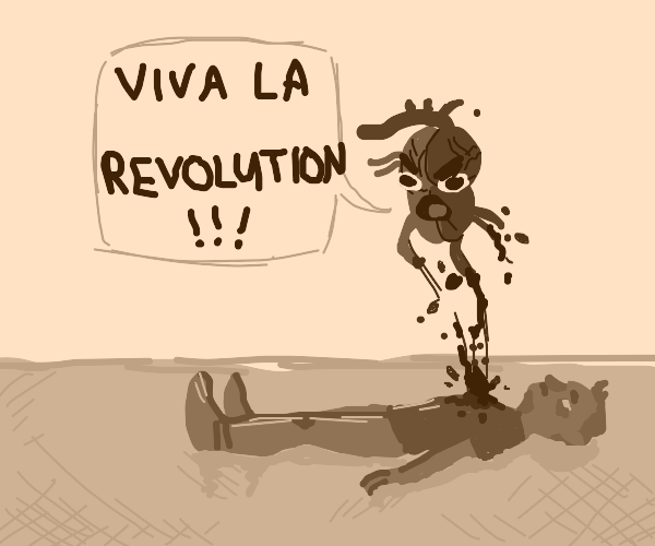 Heart leaves body and says viva la revolution