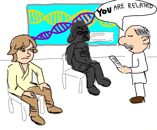 Luke Skywalker and Darth Vader have DNA test
