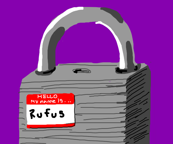 a lock named rufus
